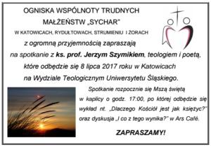 ks. Szymik zaproszenie